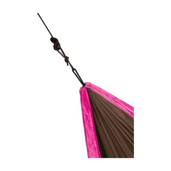 Podróżny hamak  dwuosobowy Colibri, czarny/różowy