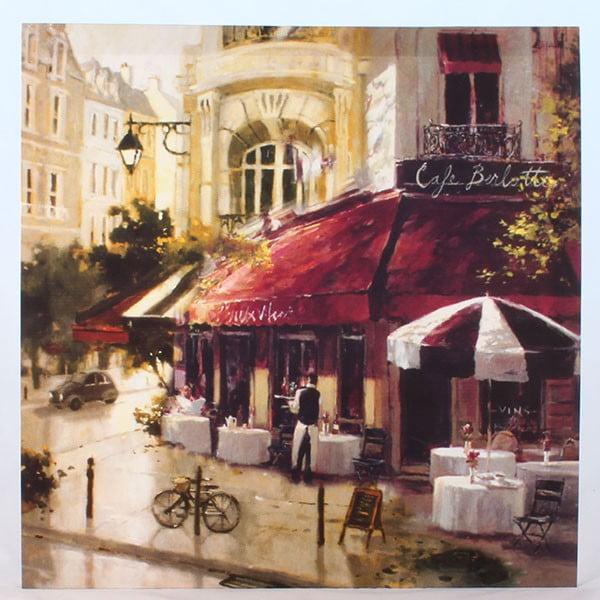Obraz na płótnie Café Berlotte, 50x50 cm