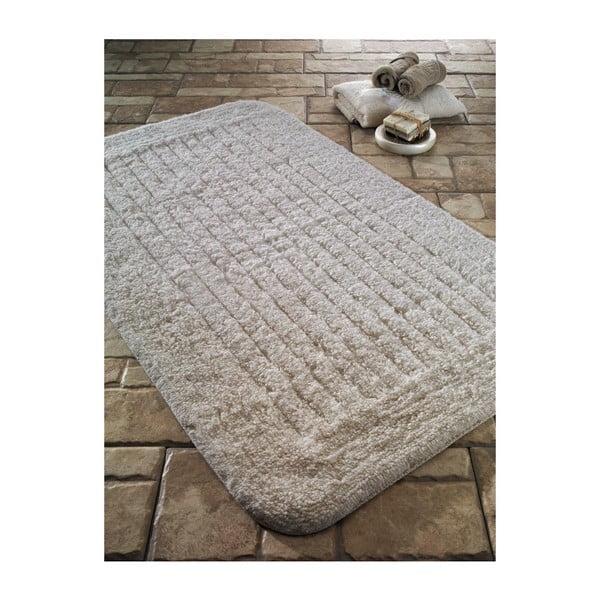 Kremowy dywanik łazienkowy Confetti Bathmats Cotton Stripe, 60x100 cm