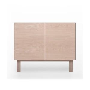 Szafka 2-drzwiowa z drewna dębowego Another Brand Cubo