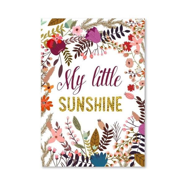 Plakat (projekt: Mia Charro) - My Little Sunshine