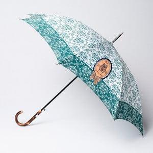 Parasol Alvarez Damask Green Illustration