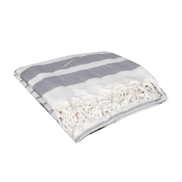 Czarny ręcznik hammam Aqua Black, 90x190cm