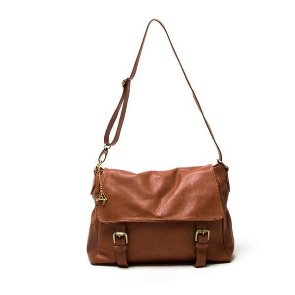 Skórzana torebka Luisa Vannini 2093 Cognac