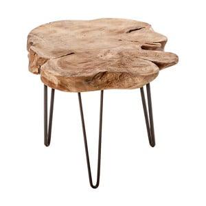 Stołek z drewna tekowego VICAL HOME Tasay