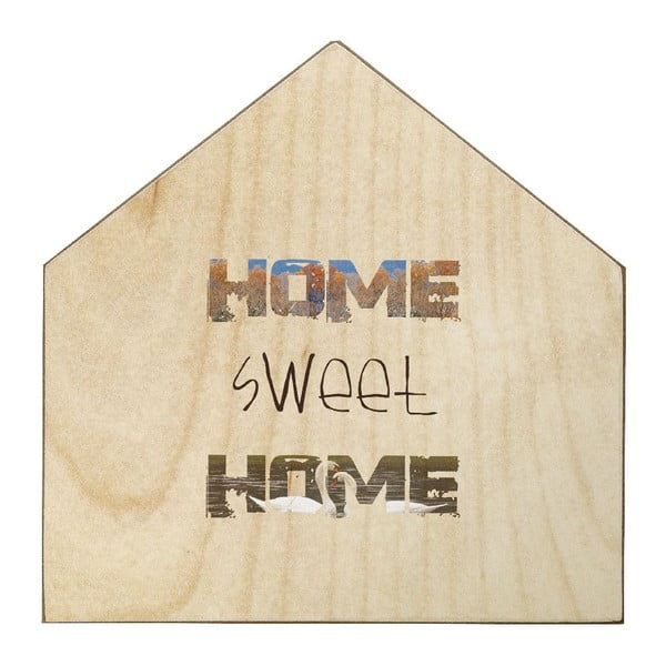 Drewniana tablica dekoracyjna Home Sweet Home, 30x30 cm
