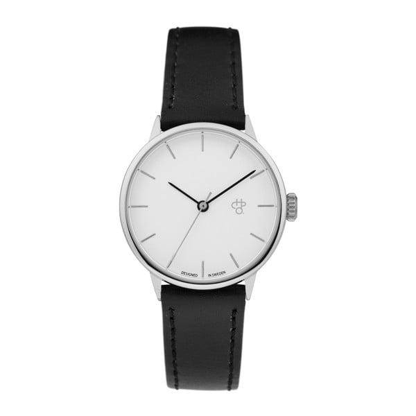 Zegarek z czarnym paskiem i z białym cyferblatem CHPO Khorshid Mini