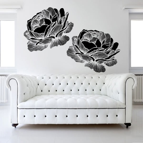 Naklejka ścienna Black Roses, 120x90 cm