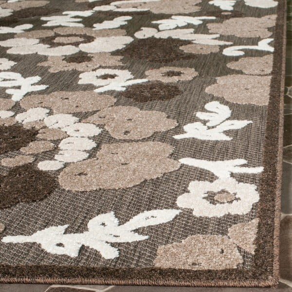 Brązowy dywan odpowiedni na zewnątrz Safavieh Oxford, 182x121 cm