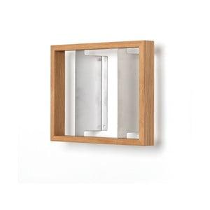 Półka na książki z drewna dębowego das kleine b b4, 25x32 cm