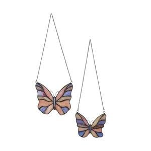 2 wiszące motylki Tiffany