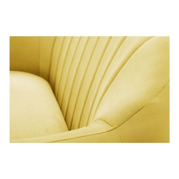 Sofa trzyosobowa Comete Stripes Yellow