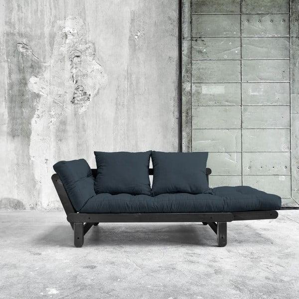 Sofa rozkładana Beat Black/Deep Blue