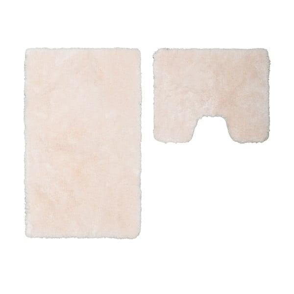Zestaw 2 dywaników łazienkowych z wcięciem Spotlight Ivory