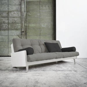 Sofa rozkładana Karup Indie White/Granite Grey/Dark Grey