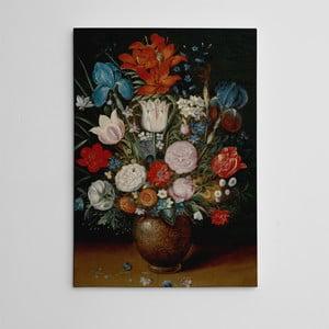 """Obraz na płótnie """"Martwa natura z kwiatami"""", 50x70 cm"""