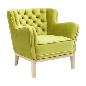 Limonkowy fotel Kare Design Coffee