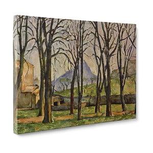 Obraz Chestnut Trees at the Jas de Bouffan - Paul Cézanne, 50x70 cm