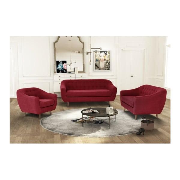 Czerwona sofa 3-osobowa Jalouse Maison Vicky