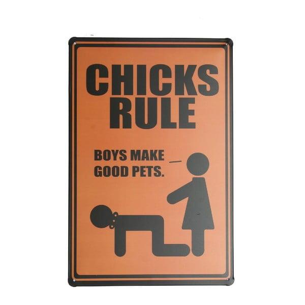 Tablica Chicks Rule, 20x30 cm