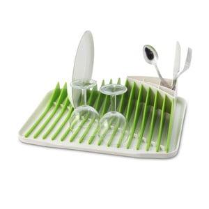 Zielono-biały ociekacz do naczyń Vialli Design Piano