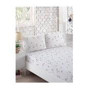Komplet białego elastycznego prześcieradła i 2 poszewek na poduszki Softy, 160x200 cm
