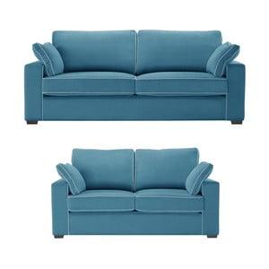 Dwuczęściowy komplet wypoczynkowy Jalouse Maison Serena, niebieski
