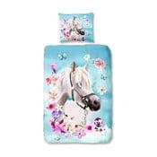 Dziecięca pościel jednoosobowa z czystej bawełny Good Morning My Beauty, 140x200 cm