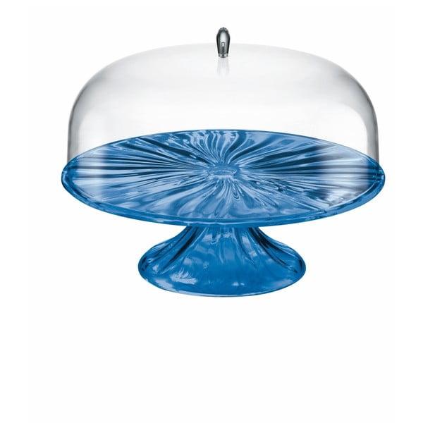 Ciemnoniebieska patera na tort Fratelli Guzzini Aqua