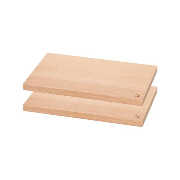 Komplet 2 drewnianych desek do krojenia Sola Basic Wood, 26.5 x 15.5 cm