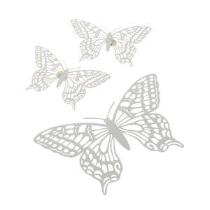 Zestaw 3 magnesów Butterflies