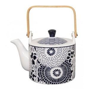 Niebiesko-biały porcelanowy dzbanek do herbaty Tokyo Design Studio Shiki, 800 ml