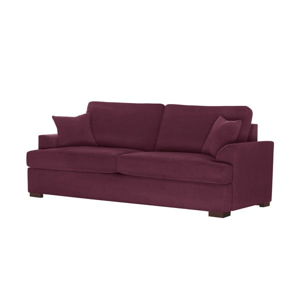 Sofa 3-osobowa Jalouse Maison Irina, bordowa