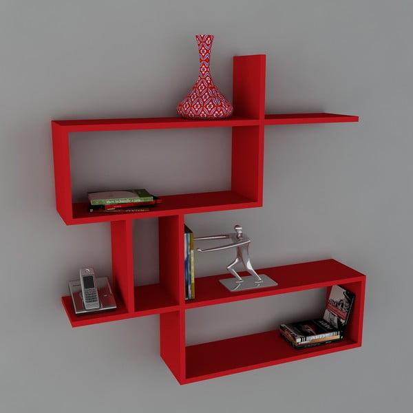 Półka Montera Book Red, 22x100x107,2 cm