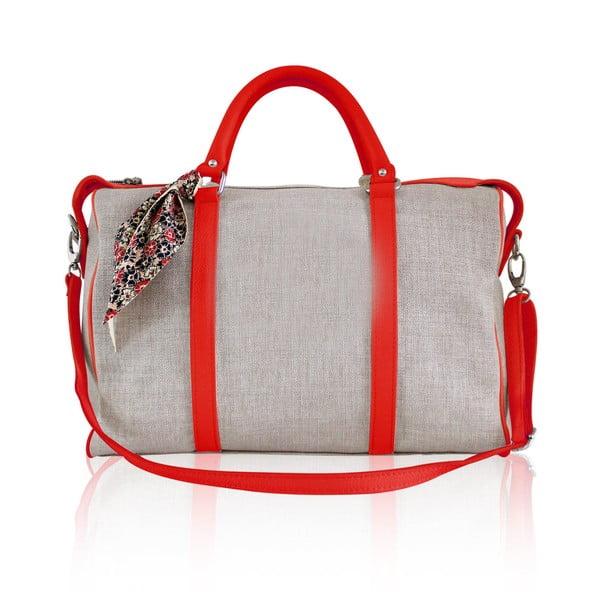 Skórzana torebka Iris Small, czerwona