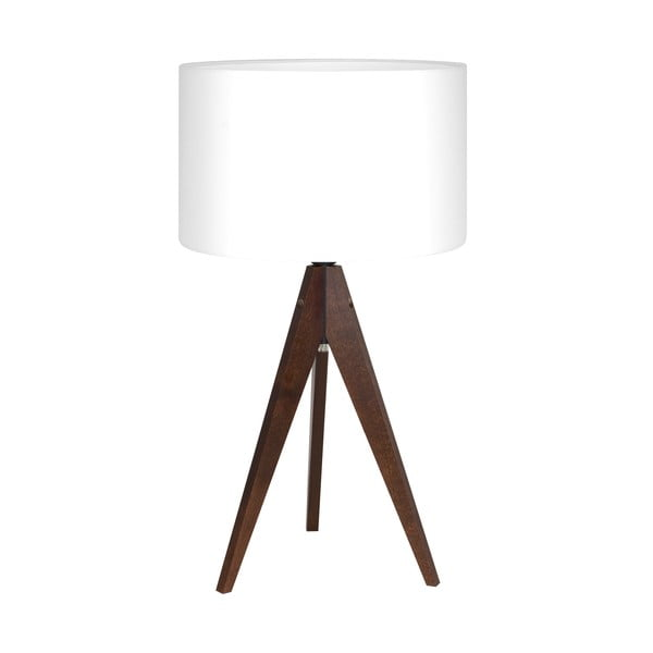 Lampa stołowa Artist White/Brown, 40x33 cm