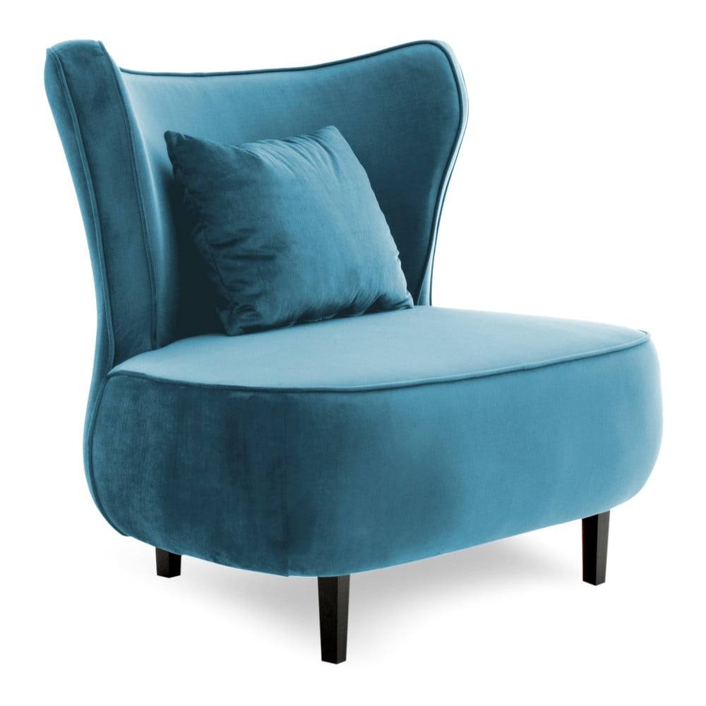 Niebieski fotel Vivonita Douglas Love
