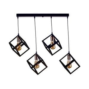 Lampa wisząca Rectangularo, 4 żarówki