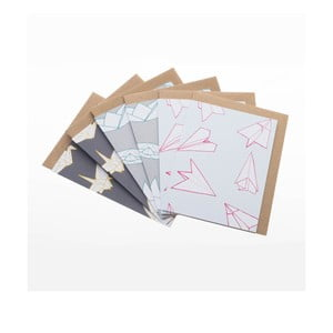 Komplet 6 kartek na życzenia Mixed Origami