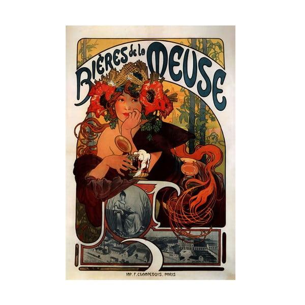 """Obraz """"Bieres de la Meuse"""" (Alfons Mucha), 26x40 cm"""