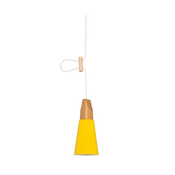 Żółta lampa wisząca Tomas XS