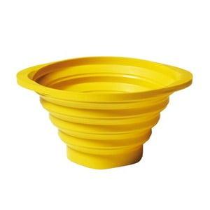 Składany durszlak Strained 23 cm, żółty