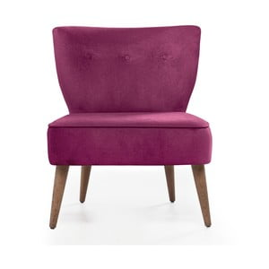 Różowy fotel tapicerowany Balcab Home Molly