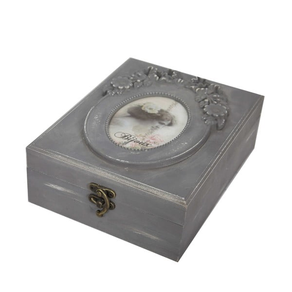 Drewniana szkatułka na biżuterię Bijoux