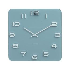 Niebieski zegar Karlsson Vintage, 35x35 cm