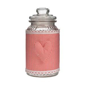 Szklany pojemnik InArt Red Selha, 11x19 cm
