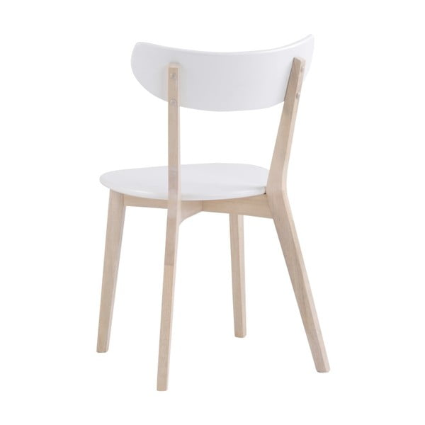 Zestaw 2 białych krzeseł z drewna dębowego Folke Sanna