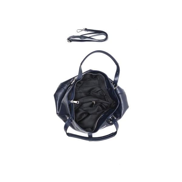 Skórzana torebka Carla Ferreri 2109 Bluscuro