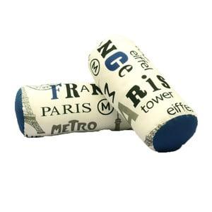 Zestaw 2 poduszek wałków z nebieskimi szczegółami 13Casa Paris