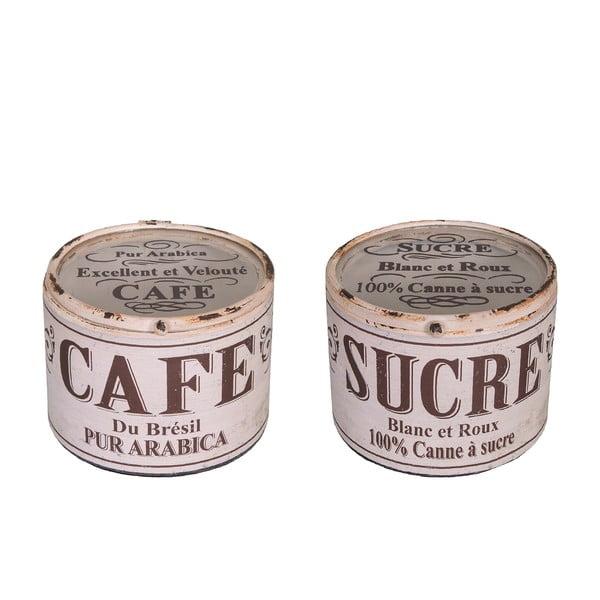 Zestaw 2 pojemników Antic Line Cafe Sucre